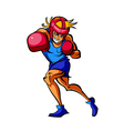 Close-up of man boxing vector image vector image
