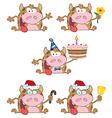 Happy Calf-Collection vector image
