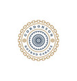 Car wheel logo template design element vector image