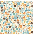 Seamless digital pattern background vector image