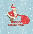 Santa Claus pulling big sack vector image