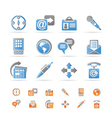 business and internet icons vector image vector image