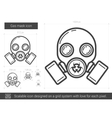 Gas mask line icon vector image