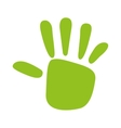 green hand print isolated icon design vector image