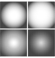 halftone Dot Textures set A set of 4 vector image