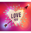 Happy Valentines day heart love vector image