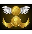 Money wings vector image