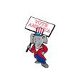 Republican Elephant Mascot Vote America Cartoon vector image