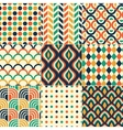 seamless retro colorful pattern vector image
