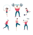 Sport family Isolated on white icon set with vector image