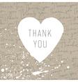 Thank you retro card vector image