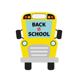 Back to school Yellow school bus kids Cartoon vector image