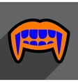 Flat with shadow Icon vampire teeth a bright vector image