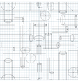 Technical Drawing Seamless Background vector image vector image