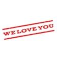 We Love You Watermark Stamp vector image