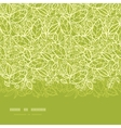 Green lace leaves horizontal seamless pattern vector image