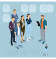 isometric people communicating vector image