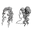 Black and white sketches vector image vector image