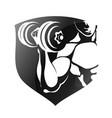 Symbol for gymnastics and gym vector image