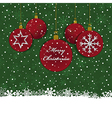 christmas bauble decoration vector image