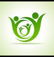Eco people celebration icon design vector image vector image