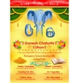 Ganesh Chaturthi event competition banner vector image vector image