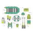 emergency service paramedic lifeguard equipment vector image