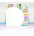 stroke shape frame design elements with blank vector image