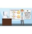 Eye doctor standing in the clinic vector image
