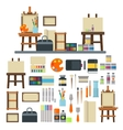 Artist icons set vector image