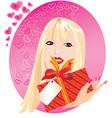 blond girl portrait vector image