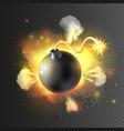 Boom Bomb Exploding Festive Poster Print vector image