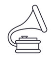 gramophone line icon sign vector image