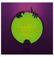 Halloween label design vector image