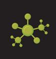 Line molecular sctructure conection vector image