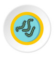 Lot of bacteria icon circle vector image