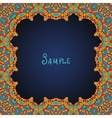 Ornate frame border with a lot of copyspace vector image