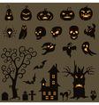 Set Of Halloween Elements vector image