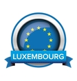 EU flag button with Luxembourg ribbon vector image