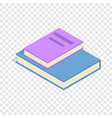 stack of two books isometric icon vector image vector image