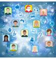 Christmas Social Network vector image