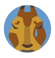 Animals emotions icons set vector image