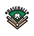 baseball sport logo template design element for vector image