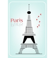 Black Eiffel tower vector image