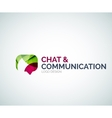 Chat and communication logo design vector image