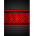 Contrast red black arrows design vector image