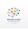 digital brain concept design logo vector image