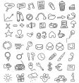 icon doodles vector image
