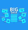 Infographics Big data vector image