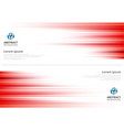 red abstract horizonal lines background vector image